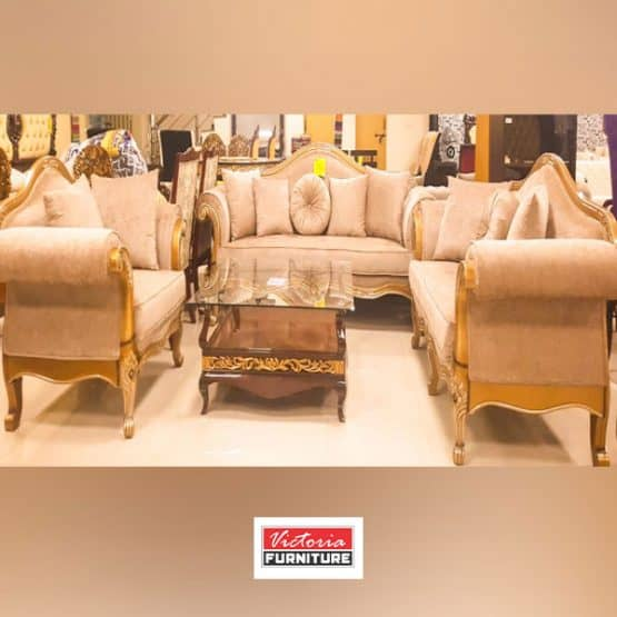 Classic Sofa Set with Table S